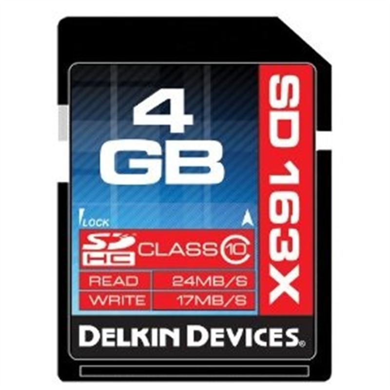 Delkin 4GB SDHC Class 10 163x Image 1